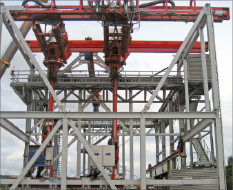 Aker's bridge crane systems can be delivered with robotic motion control that allows for remote control from the driller's cabin.