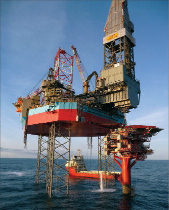 "in a two-year period.""    The MÆRSK RESOLUTE features highly advanced equipment that Maersk Drilling says makes the rig 20% more efficient compared with a conventional jackup."