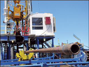 All phases of the rig are operated from the climate-controlled driller's cabin.