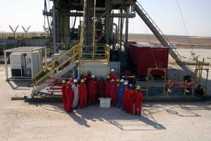 The rig crew on Oman KCA DEUTAG's Rig T-78 celebrates achieving one year without a single recordable injury.