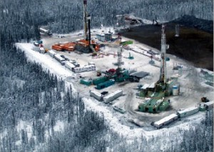 Not much resulted from Apache's initial foray into northeast British Columbia's Ootla area to test Keg River carbonates in 2001. In 2008, however, the area was identified as potentially one of the largest shale gas plays in North America. Copyright Jeff Heger 2006, Apache Corp