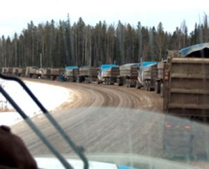 Convoy of trucks