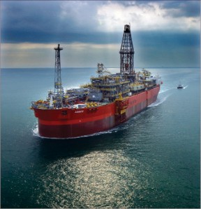 Nabors platform rig Rig 804 is operating from Murphys Azurite floating drilling, production, storage and offloading (FDPSO) vessel off the coast of Congo.