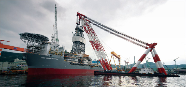 The Deep Ocean Ascension is one of Pride's four newbuilds to be delivered in 2010-11. It is already contracted to BP for five years.