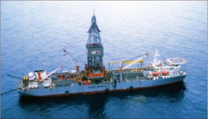 Offline capabilities on drillships are becoming a strong requirement with operators, who are more and more seeking subsea construction features. Pride has been focusing on balancing drilling and production requirements on its newbuilds, said senior vice president of operations, asset management and engineering Ron Toufeeq. Above, the Pride Africa drills for Total offshore Angola.