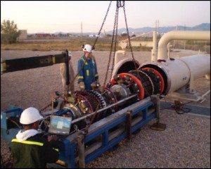 BJ Services' GEMINI system can detect dents and other damage in pipelines.