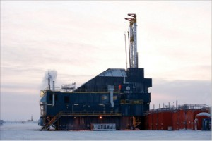 Though roads are frozen for most of the year on the North Slope's Kuparuk Field, Nabor's CDR2-AC rig was designed to minimize impact on the local road system, using advanced design and lighter materials to keep overall weight down.