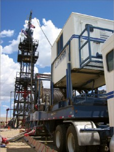 BJ Services conducts post-fracturing milling operations in Wamsutter Field in Wyoming. Coiled tubing is proving to be a cost-effective way to mill out frac plugs after the stimulation operation in long horizontal wells.