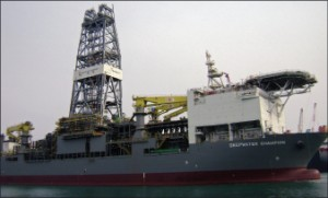 Transocean's Deepwater Champion will drill its first well in the Turkish Black Sea, 2011.