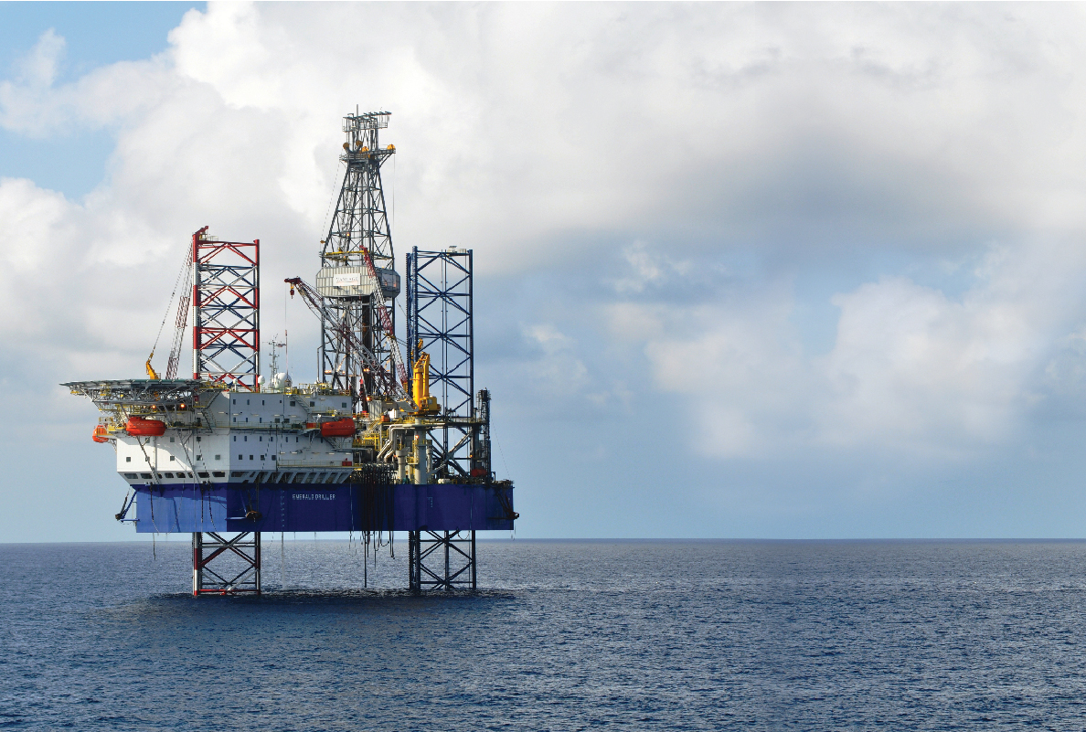 The Emerald Driller, owned by Vantage Drilling, is contracted to drill in the Gulf of Thailand into January 2011 at $171,000/day. You can't get that kind of rate now – current going rate for the bigger jackup units ranges from $120,000 to $140,000.