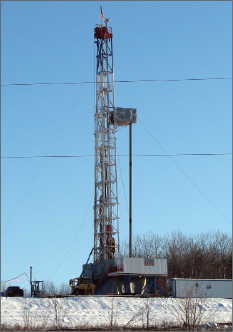 Union Drilling's Rig 58 operates in the Marcellus Shale, Lycoming County, in north central Pennsylvania. Some drilling contractors and operators anticipate a move in the Marcellus to pad drilling-capable rigs that don't need to be moved during the winter.