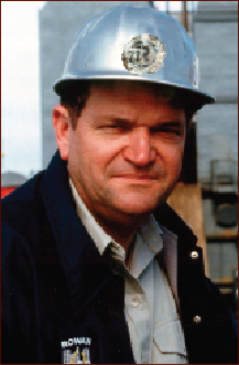 This picture shows Bob Palmer on one of Rowan's rigs while he was chairman, CEO and president of the company.