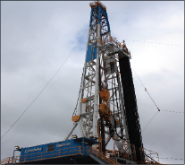 Rig 16 is a  2,000-hp, SCR rig with a 500-ton AC top drive and skid system.
