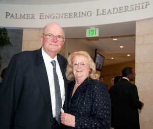 Bob Palmer and wife at the christening of Caruth Hall on the Southern Methodist campus in Dallas.