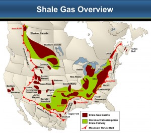 Shale plays are estimated to contribute a third of the North American gas supply by 2020. This graph shows the different shale plays in the US and Canada, many of which have yet to tap their full potential. (This chart has been printed with permission from Ziff Energy).