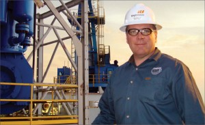 "Brian ""Bru"" Brurud conducts the training mentoring stage of the Check 6 ""Performance Excellence"" Rig Training Program aboard Transocean's Development Driller I rig."