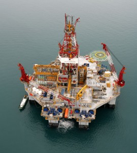Diamond Offshore Drilling Inc.'s deepwater semisubmersible Ocean Endeavor.