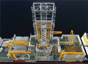 Figure 2: An overview of the drillship topside.