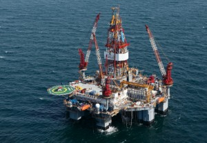 Diamond Offshore's Ocean Monarch is contracted to Anadarko Petroleum in the Gulf of Mexico.