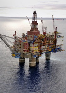 The Gullfaks C platform in the North Sea. (Photo: Øyvind Hagen)