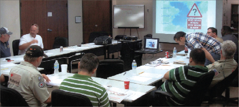 IADC performs an audit of an HSE Rig Pass-accredited training class on 11 August 2010 at a Weatherford International facility in Lafayette, La.