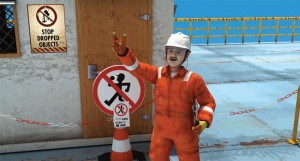 Figure 3: The prevention campaign uses training animations to demonstrate good and bad practices in a language-free setting so they can be used at well sites worldwide.