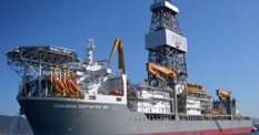 The Pacific Santa Ana ultra-deepwater drillship