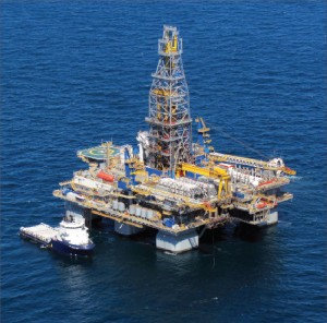 The deepwater semisubmersible Noble Danny Adkins is one of the companys rigs idled in the Gulf of Mexico as a result of the deepwater drilling moratorium. Although that ban was officially lifted in October, no new drilling has begun due to a stalled permit approval process.