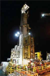 Huisman's Q4000 multipurpose tower was used to lift the crippled BOP of the Macondo well to surface for investigation last year after the well was plugged with cement.