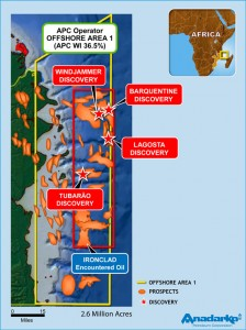 Anadarko is the operator of the 2.6-million-acre Offshore Area 1 of the Rovuma Basin offshore Mozambique.