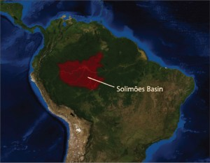 The onshore Solimões Basin in the northern region of Brazil is covered by rainforest. The basin is the site of HRT Oil and Gas' drilling campaign, which is moving in heliportable drilling rigs because of difficult logistics. The company plans to start producing from its wells there as early as June this year.