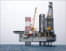 The jackup Atwood Aurora, capable of drilling in 350-ft water depths, is working in Egypt.