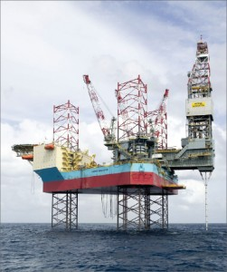 The ultra harsh-environment jackup Maersk Innovator is working under an eight-year contract in the Norwegian North Sea. The unit is designed to drill subsea wells in addition to traditional surface-completed wells.