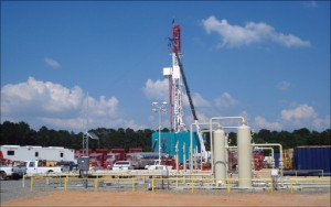 At Encana's Jackson Davis 35 well hub in the Haynesville play, De Soto Parish, La., HPHT wells can have bottomhole temperatures of up to 380°F and pressures between 10,000 and 11,000 psi.