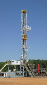 Helmerich & Payne's Rig 260, a FlexRig3 design, is drilling for Penn Virginia Oil & Gas Corp in the Haynesville in East Texas.