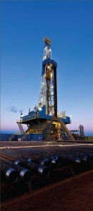 Nabors Drilling Rig 266 drilled Brigham Exploration's Abelmann 23-14 #1H well in the Bakken Shale, which underlies Montana, North Dakota and parts of Canada. Initial production from this well was 4,169 bbl/day of oil equivalent with 33 frac stages. Nabors believes it holds the largest market share in the Bakken. Nabors photo at right courtesy of Jim Blecha Photography