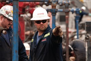Universal Well Services personnel direct hydraulic fracturing operations for an operation in the Marcellus Shale near Pittsburgh, Pa. Photo courtesy of Universal Well Services