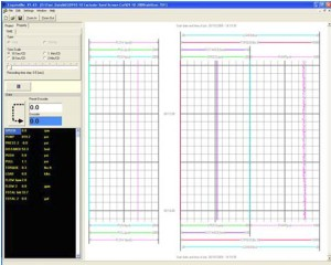 The test data acquisition system incorporated an API-style strip chart with fully variable scale and plotting options.