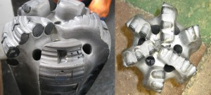 Hess Corp recently launched a drilling optimization program in North Dakota called SmartDrill. Whereas a lateral section used to require three BHAs and the bit was severely damaged (left), after SmartDrill was implemented, only one BHA was needed to reach TD and the bit that was pulled looked like new (right).