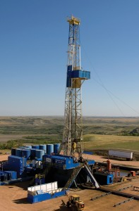 Hess target for the SmartDrill optimization program in the Bakken for the next five years is to lower drilling costs by 10% and increase the drill rate per day by 40% on rigs like this Nabors Drilling unit.