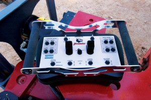 The fully electronic driller's console on the Atlas Copco Predator rig makes it possible for the driller to operate the rig from as far back as the doghouse, if required. To enhance safety, rig manufacturers continue to move toward more computer-controlled systems, such as wireless pipe-handling systems where the operator can stand away from the operation.