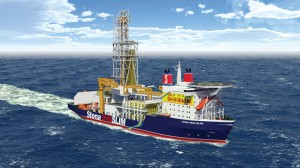 Figure 1:  Seeing a need for deepwater drillships with advanced technologies but without multi-casing capabilities or high mud weight functionalities, Stena Drilling has proposed the smaller DrillSLIM drillship design based on a slim-hole drilling with casing design. The company believes reduced construction and operating costs will cut spread costs and, in turn, E&amp;P expenditures.
