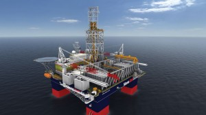 Figure 2: Stenas DrillSLIM semisubmersible design is based on the Keppel FELS DSS30 hull, configured to drill slim wells and can execute a full suite of workover well intervention activities. 