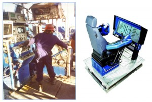 The modern-day driller's chair (right) comes with an increased amount of information that may be an overload for human capabilities.