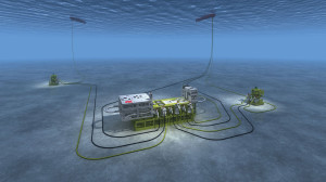 The Marlim subsea separation system on Petrobras largest field in the Campos Basin separates heavy oil, gas, sand and water. The system debottlenecks the floating production facility and increases production by removing unwanted water from the production stream at the seabed.