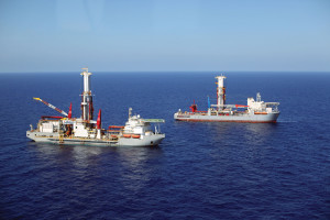 The Noble Bully 1 and the Noble Globetrotter 1 each feature a multipurpose tower in place of a traditional derrick. Integrated technologies on the rigs help decrease the environmental footprint and the overall size of the ships. Both deepwater drillships are operating for Shell in the Gulf of Mexico.