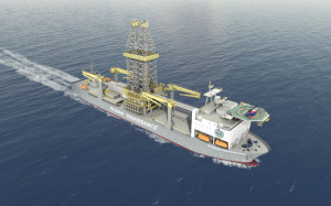 The Rowan Renaissance drillship, contracted to Repsol for work offshore West Africa, will have MPD equipment built in during the construction phase. Repsol director of global drilling and completions Mike Davis believes that MPD is the single biggest game-changing technology available that can provide a technical edge today, especially in deepwater. Photo courtesy of Rowan