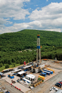 Nomac's Rig #44 operates in the Marcellus Shale for Chesapeake. Contractors in US unconventional plays are seeing their top drives being pushed to the limit as operators request maximum torque and circulating pressures.