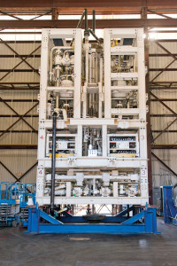 GE's MaxLift 1800 Pump enables dual-gradient drilling (DGD) in deepwater applications and can deliver up to 1,800 gal/min at pressures up to 6,500 psi. The system can drill in tighter fracture and pore pressure gradients of heavy subsalt plays, making historically unreachable reservoirs possible to reach. The pump was developed from a joint industry project with Chevron.