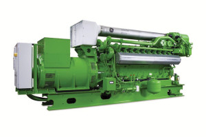 Two of GE's Jenbacher J320 turbocharged natural gas engines are powering the LNG-fueled drilling rigs in Pennsylvania.